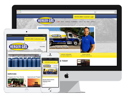 Herger Gas was a custom website built into Concrete5, a content management system.